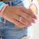 Ring turquoise star silver_