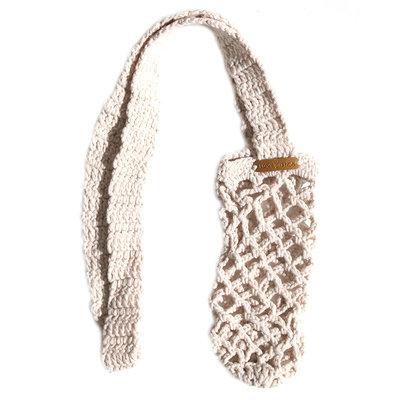 Bottle bag beige