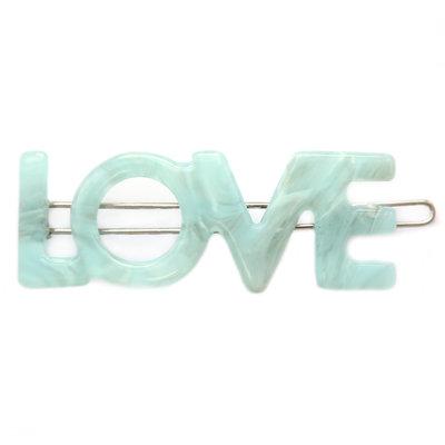 Hair clip Love azure