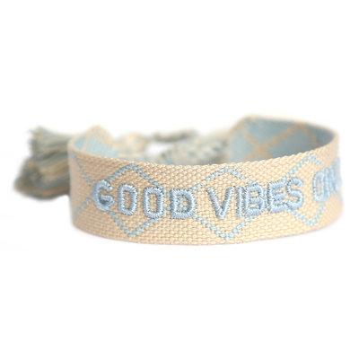 Good vibes only bracelet creme