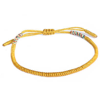 Bracelet Buddhist yellow