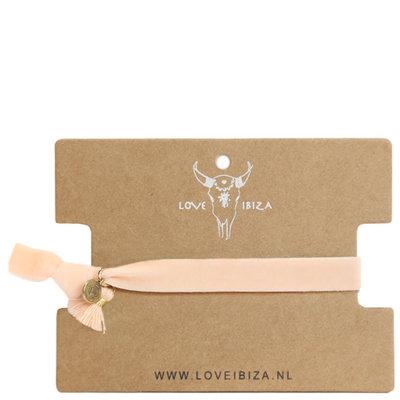Velvet bracelet - Peach
