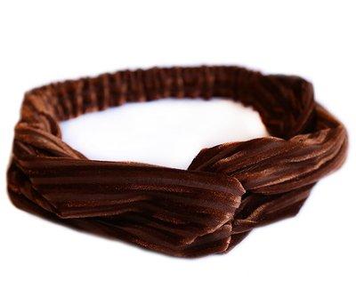 Velvet hair band - Brown