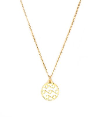 Necklace White waves gold
