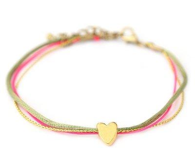 Anklet golden heart