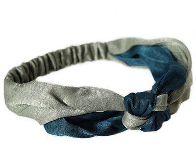 Hair band Indigo silk