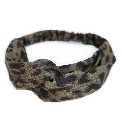 Hair band Leopard green