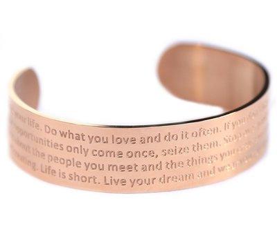 Motivation bracelet rosé