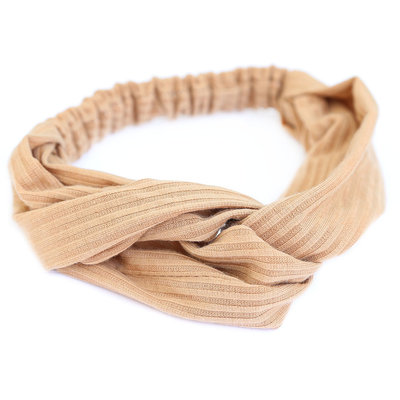 Hair band jersey beige