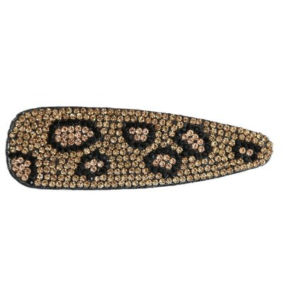 Statement hairclip - Strass Leopard gold