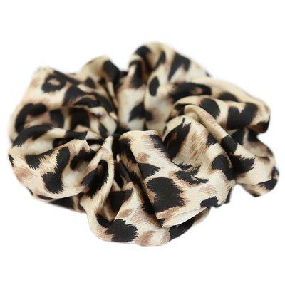 Satin scrunchie leopard