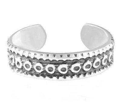 Midi pink ring Mantra (real silver)