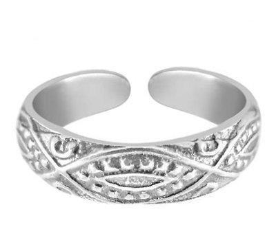 Midi pink ring Inca (real silver)