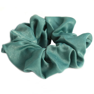 Scrunchie silk green