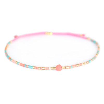 Miyuki bracelet pink