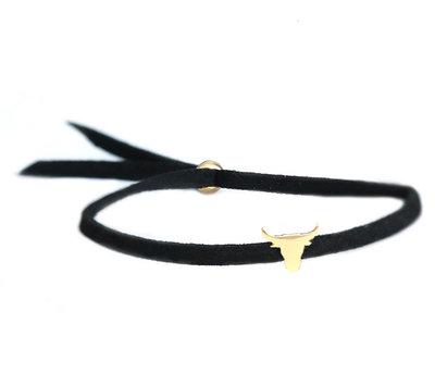 Buffalo bracelet black gold