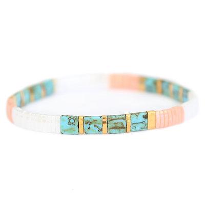 Oyster pastel bracelet