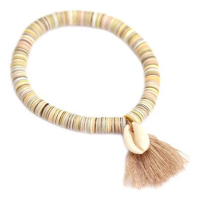 Bracelet shell flakes beige