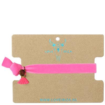 Velvet bracelet - pink
