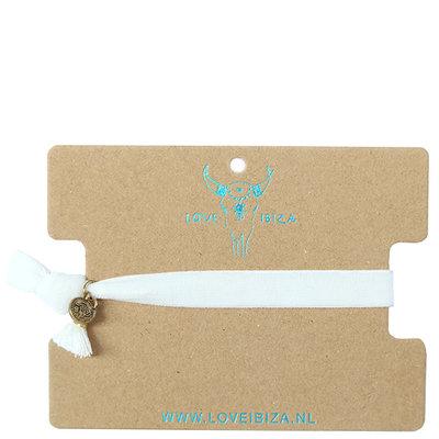 Velvet bracelet - white