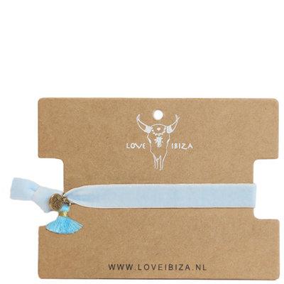 Velvet bracelet - baby blue