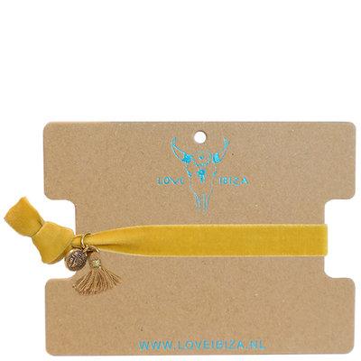 Velvet bracelet - Ochre