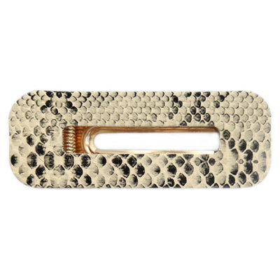 Statement hair clip Snake beige