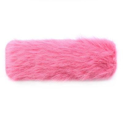 Hair clip fluffy pink
