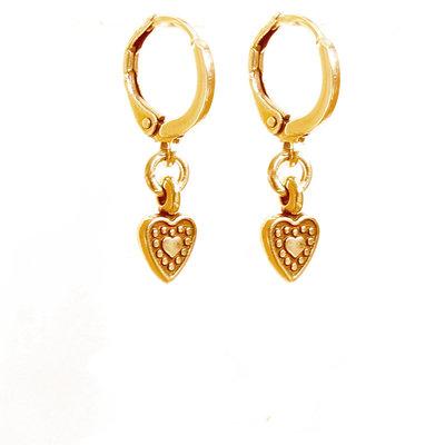 Earrings - Heart gold