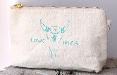 Make-up bag Love Ibiza Turquoise