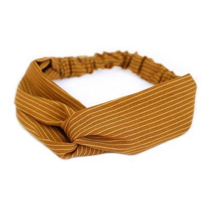 Hair band Stripe ochre