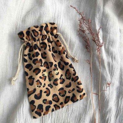Gift bag leopard velvet