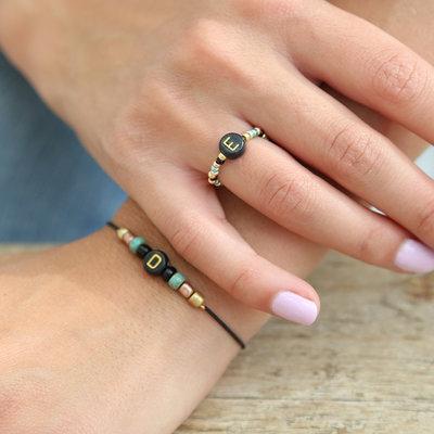 SET - Initial bracelet & initial ring
