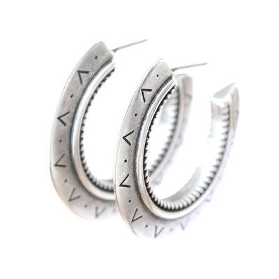 Earrings Aztec silver