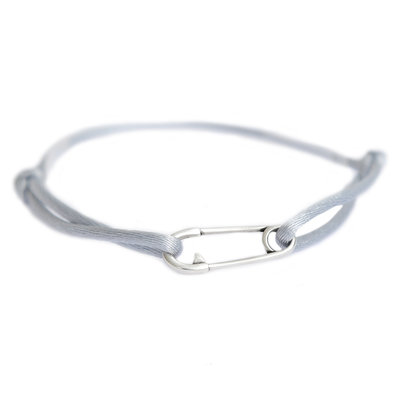 Safety pin bracelet silver