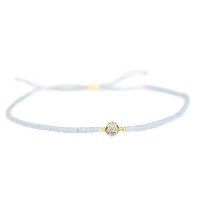 Miyuki bracelet grey