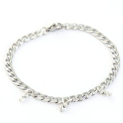 Moon heart star bracelet silver