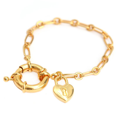 Armband love lock gold