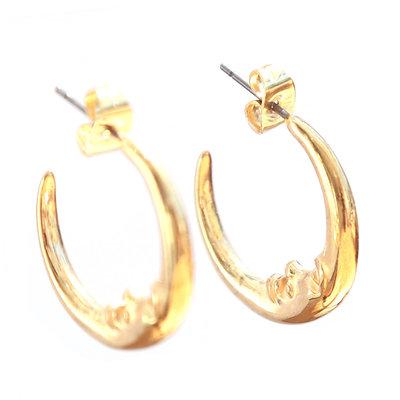 Earrings moon gold