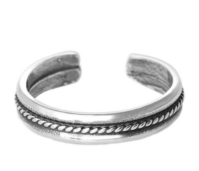 Midi pink ring Chain (real silver)