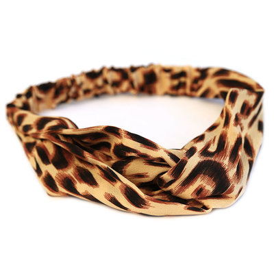 Hair band leopard rose