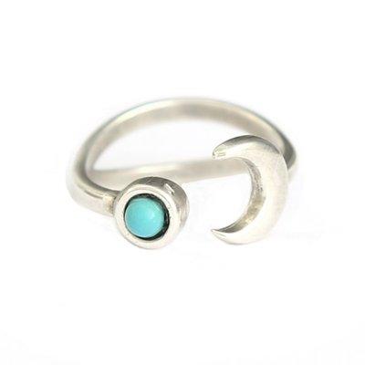 Ring Moon & Stone
