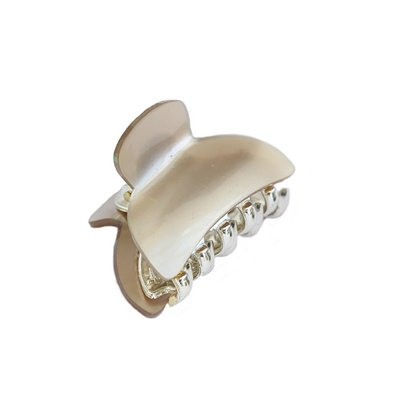 Hair claw Ivory gold small