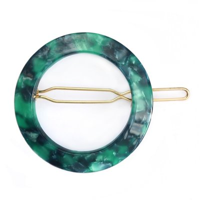 Hairclip round Emerald
