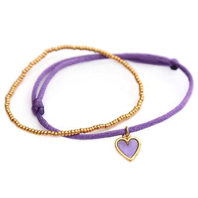 Bracelets lilac love gold