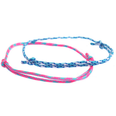 Bracelet set surf culture blue