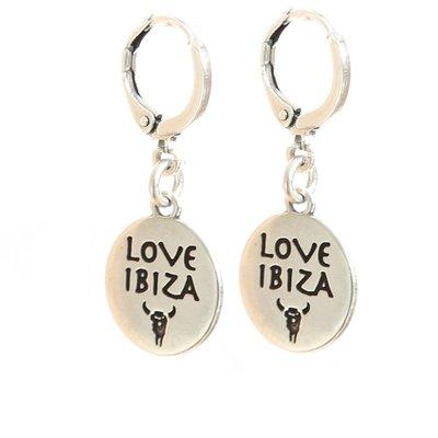 Earrings - Love Ibiza silver