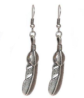 Earrings - Feather