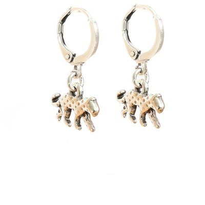 Earrings - Leopard silver