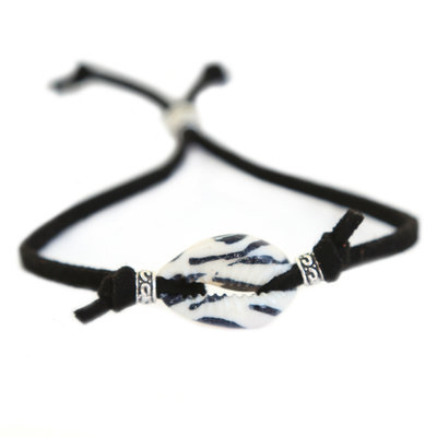 Shell bracelet zebra black